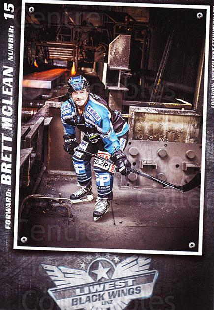 2015-16 EBEL EHC Liwest Black Wings Linz Postcards #20 Brett Mclean<br/>1 In Stock - $3.00 each - <a href=https://centericecollectibles.foxycart.com/cart?name=2015-16%20EBEL%20EHC%20Liwest%20Black%20Wings%20Linz%20Postcards%20%2320%20Brett%20Mclean...&quantity_max=1&price=$3.00&code=659804 class=foxycart> Buy it now! </a>