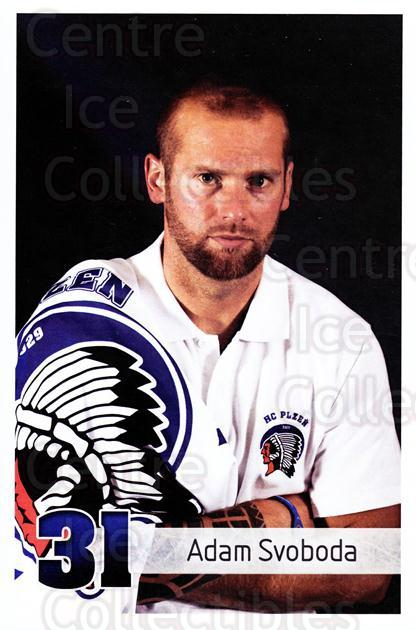 2011-12 Czech HC Plzen Postcards #13 Adam Svoboda<br/>2 In Stock - $3.00 each - <a href=https://centericecollectibles.foxycart.com/cart?name=2011-12%20Czech%20HC%20Plzen%20Postcards%20%2313%20Adam%20Svoboda...&quantity_max=2&price=$3.00&code=659851 class=foxycart> Buy it now! </a>