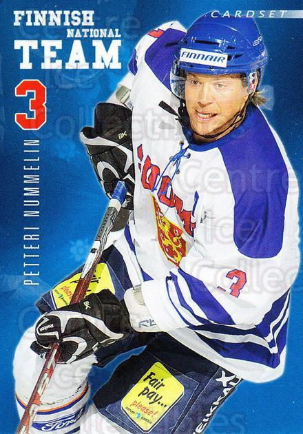 2009-10 Finnish Cardset National Team Series One #1 Petteri Nummelin<br/>3 In Stock - $3.00 each - <a href=https://centericecollectibles.foxycart.com/cart?name=2009-10%20Finnish%20Cardset%20National%20Team%20Series%20One%20%231%20Petteri%20Nummeli...&quantity_max=3&price=$3.00&code=659911 class=foxycart> Buy it now! </a>