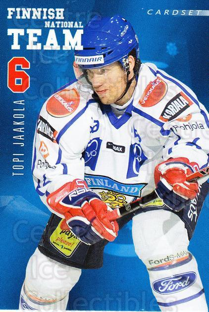 2009-10 Finnish Cardset National Team Series One #2 Topi Jaakola<br/>3 In Stock - $3.00 each - <a href=https://centericecollectibles.foxycart.com/cart?name=2009-10%20Finnish%20Cardset%20National%20Team%20Series%20One%20%232%20Topi%20Jaakola...&quantity_max=3&price=$3.00&code=659912 class=foxycart> Buy it now! </a>