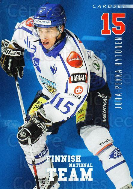 2009-10 Finnish Cardset National Team Series One #4 Juha-Pekka Hytonen<br/>1 In Stock - $3.00 each - <a href=https://centericecollectibles.foxycart.com/cart?name=2009-10%20Finnish%20Cardset%20National%20Team%20Series%20One%20%234%20Juha-Pekka%20Hyto...&quantity_max=1&price=$3.00&code=659914 class=foxycart> Buy it now! </a>