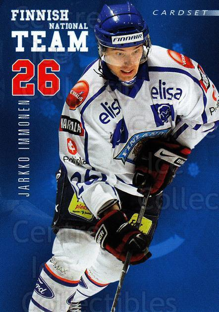 2009-10 Finnish Cardset National Team Series One #8 Jarkko Immonen<br/>1 In Stock - $3.00 each - <a href=https://centericecollectibles.foxycart.com/cart?name=2009-10%20Finnish%20Cardset%20National%20Team%20Series%20One%20%238%20Jarkko%20Immonen...&quantity_max=1&price=$3.00&code=659918 class=foxycart> Buy it now! </a>