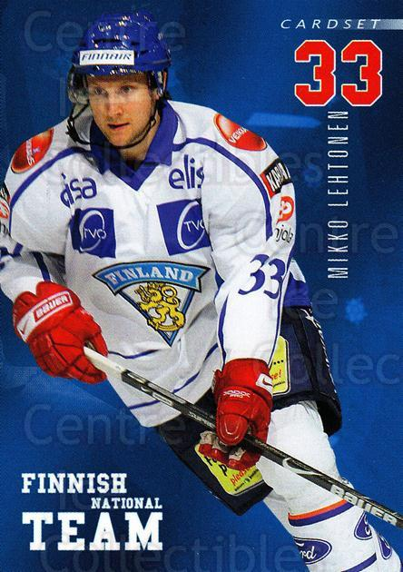 2009-10 Finnish Cardset National Team Series One #12 Mikko Lehtonen<br/>3 In Stock - $3.00 each - <a href=https://centericecollectibles.foxycart.com/cart?name=2009-10%20Finnish%20Cardset%20National%20Team%20Series%20One%20%2312%20Mikko%20Lehtonen...&quantity_max=3&price=$3.00&code=659922 class=foxycart> Buy it now! </a>