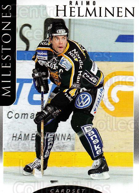 2009-10 Finnish Cardset Milestones #1 Raimo Helminen<br/>3 In Stock - $3.00 each - <a href=https://centericecollectibles.foxycart.com/cart?name=2009-10%20Finnish%20Cardset%20Milestones%20%231%20Raimo%20Helminen...&quantity_max=3&price=$3.00&code=659974 class=foxycart> Buy it now! </a>