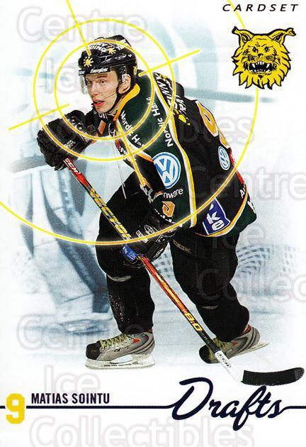 2009-10 Finnish Cardset Drafts #6 Matias Sointu<br/>1 In Stock - $3.00 each - <a href=https://centericecollectibles.foxycart.com/cart?name=2009-10%20Finnish%20Cardset%20Drafts%20%236%20Matias%20Sointu...&quantity_max=1&price=$3.00&code=659988 class=foxycart> Buy it now! </a>