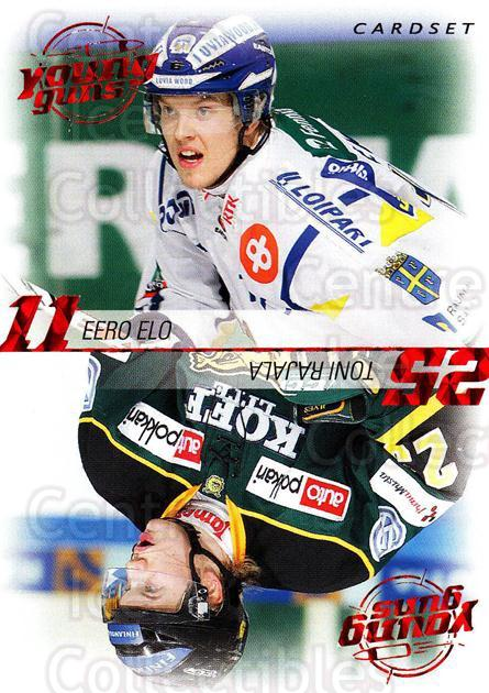 2010-11 Finnish Cardset Young Guns #4 Eero Elo, Toni Rajala<br/>3 In Stock - $3.00 each - <a href=https://centericecollectibles.foxycart.com/cart?name=2010-11%20Finnish%20Cardset%20Young%20Guns%20%234%20Eero%20Elo,%20Toni%20...&quantity_max=3&price=$3.00&code=660031 class=foxycart> Buy it now! </a>