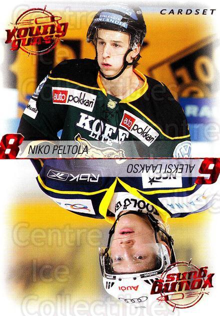2010-11 Finnish Cardset Young Guns #6 Niko Peltola, Aleksi Laakso<br/>2 In Stock - $3.00 each - <a href=https://centericecollectibles.foxycart.com/cart?name=2010-11%20Finnish%20Cardset%20Young%20Guns%20%236%20Niko%20Peltola,%20A...&quantity_max=2&price=$3.00&code=660033 class=foxycart> Buy it now! </a>