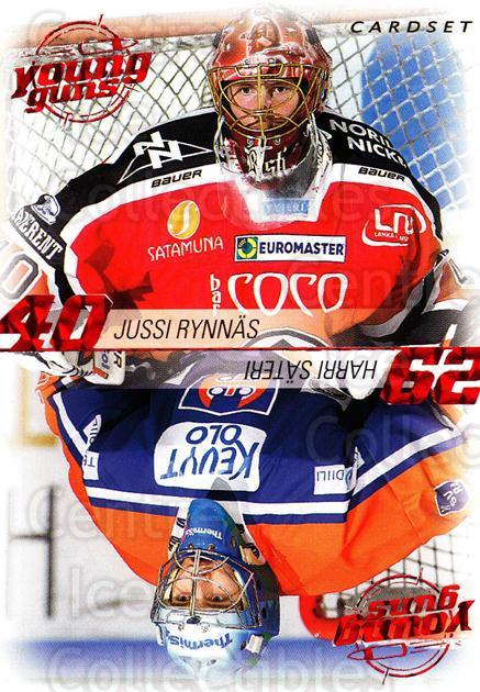 2010-11 Finnish Cardset Young Guns #7 Jussi Rynnas, Harri Sateri<br/>2 In Stock - $3.00 each - <a href=https://centericecollectibles.foxycart.com/cart?name=2010-11%20Finnish%20Cardset%20Young%20Guns%20%237%20Jussi%20Rynnas,%20H...&quantity_max=2&price=$3.00&code=660034 class=foxycart> Buy it now! </a>