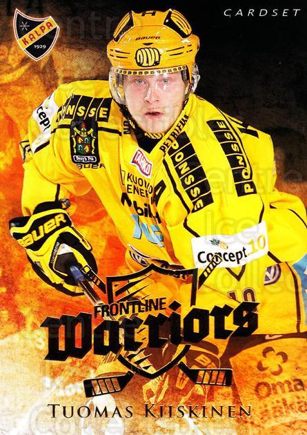 2010-11 Finnish Cardset Frontline Warriors #5 Tuomas Kiiskinen<br/>4 In Stock - $3.00 each - <a href=https://centericecollectibles.foxycart.com/cart?name=2010-11%20Finnish%20Cardset%20Frontline%20Warriors%20%235%20Tuomas%20Kiiskine...&quantity_max=4&price=$3.00&code=660041 class=foxycart> Buy it now! </a>