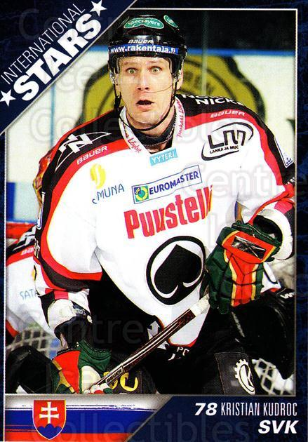 2010-11 Finnish Cardset International Stars Series One #8 Kristian Kudroc<br/>3 In Stock - $3.00 each - <a href=https://centericecollectibles.foxycart.com/cart?name=2010-11%20Finnish%20Cardset%20International%20Stars%20Series%20One%20%238%20Kristian%20Kudroc...&quantity_max=3&price=$3.00&code=660081 class=foxycart> Buy it now! </a>