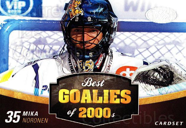 2012-13 Finnish Cardset Best Goalies of 2000's #1 Mika Noronen<br/>1 In Stock - $3.00 each - <a href=https://centericecollectibles.foxycart.com/cart?name=2012-13%20Finnish%20Cardset%20Best%20Goalies%20of%202000's%20%231%20Mika%20Noronen...&quantity_max=1&price=$3.00&code=660231 class=foxycart> Buy it now! </a>