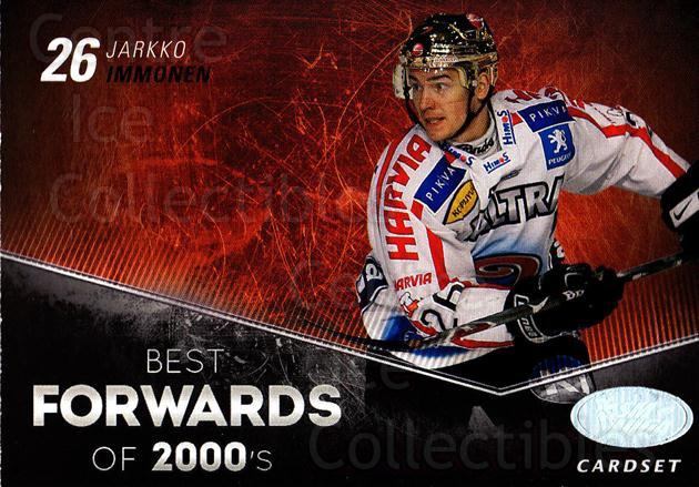 2012-13 Finnish Cardset Best Forwards of 2000's #2 Jarkko Immonen<br/>2 In Stock - $3.00 each - <a href=https://centericecollectibles.foxycart.com/cart?name=2012-13%20Finnish%20Cardset%20Best%20Forwards%20of%202000's%20%232%20Jarkko%20Immonen...&price=$3.00&code=660304 class=foxycart> Buy it now! </a>