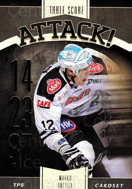 2012-13 Finnish Cardset Three Score Attack #13 Marko Anttila<br/>2 In Stock - $3.00 each - <a href=https://centericecollectibles.foxycart.com/cart?name=2012-13%20Finnish%20Cardset%20Three%20Score%20Attack%20%2313%20Marko%20Anttila...&quantity_max=2&price=$3.00&code=660338 class=foxycart> Buy it now! </a>