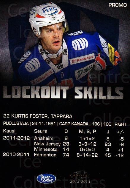2012-13 Finnish Cardset Promo #1 Kurtis Foster<br/>2 In Stock - $3.00 each - <a href=https://centericecollectibles.foxycart.com/cart?name=2012-13%20Finnish%20Cardset%20Promo%20%231%20Kurtis%20Foster...&quantity_max=2&price=$3.00&code=660340 class=foxycart> Buy it now! </a>
