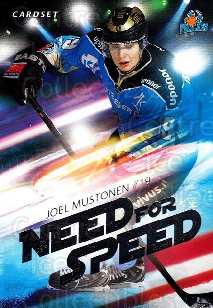 2014-15 Finnish Cardset Need For Speed #9 Joel Mustonen<br/>1 In Stock - $3.00 each - <a href=https://centericecollectibles.foxycart.com/cart?name=2014-15%20Finnish%20Cardset%20Need%20For%20Speed%20%239%20Joel%20Mustonen...&quantity_max=1&price=$3.00&code=660417 class=foxycart> Buy it now! </a>