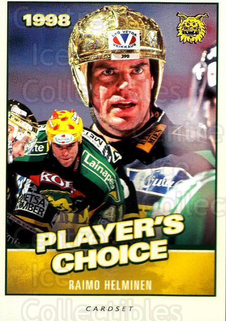 2014-15 Finnish Cardset Players Choice #8 Raimo Helminen<br/>1 In Stock - $3.00 each - <a href=https://centericecollectibles.foxycart.com/cart?name=2014-15%20Finnish%20Cardset%20Players%20Choice%20%238%20Raimo%20Helminen...&price=$3.00&code=660453 class=foxycart> Buy it now! </a>
