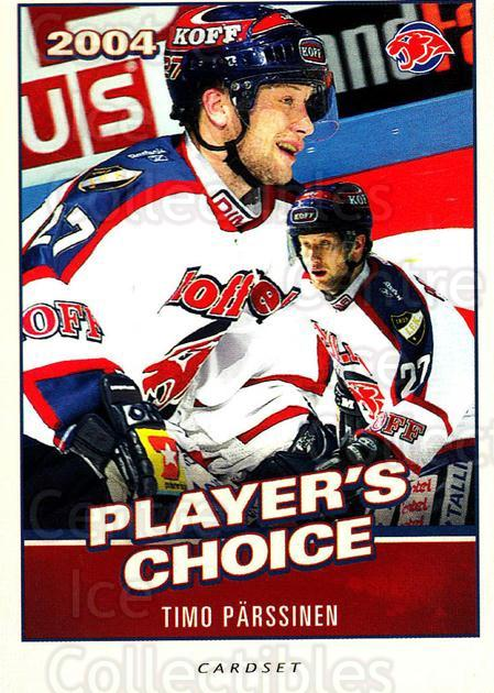 2014-15 Finnish Cardset Players Choice #14 Timo Parssinen<br/>1 In Stock - $3.00 each - <a href=https://centericecollectibles.foxycart.com/cart?name=2014-15%20Finnish%20Cardset%20Players%20Choice%20%2314%20Timo%20Parssinen...&quantity_max=1&price=$3.00&code=660459 class=foxycart> Buy it now! </a>