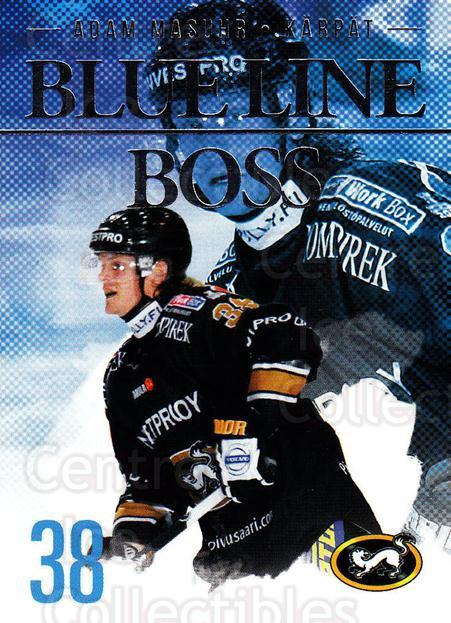 2014-15 Finnish Cardset Blue Line Boss #7 Adam Masuhr<br/>1 In Stock - $3.00 each - <a href=https://centericecollectibles.foxycart.com/cart?name=2014-15%20Finnish%20Cardset%20Blue%20Line%20Boss%20%237%20Adam%20Masuhr...&quantity_max=1&price=$3.00&code=660504 class=foxycart> Buy it now! </a>