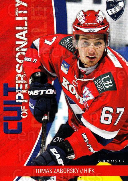 2014-15 Finnish Cardset Cult of Personality #2 Tomas Zaborsky<br/>1 In Stock - $3.00 each - <a href=https://centericecollectibles.foxycart.com/cart?name=2014-15%20Finnish%20Cardset%20Cult%20of%20Personality%20%232%20Tomas%20Zaborsky...&quantity_max=1&price=$3.00&code=660513 class=foxycart> Buy it now! </a>