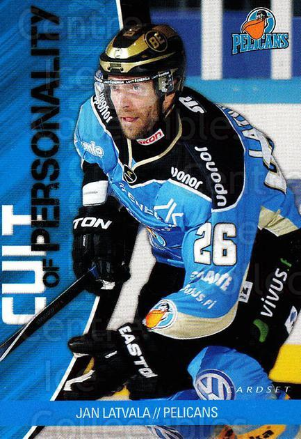 2014-15 Finnish Cardset Cult of Personality #9 Jan Latvala<br/>3 In Stock - $3.00 each - <a href=https://centericecollectibles.foxycart.com/cart?name=2014-15%20Finnish%20Cardset%20Cult%20of%20Personality%20%239%20Jan%20Latvala...&quantity_max=3&price=$3.00&code=660520 class=foxycart> Buy it now! </a>