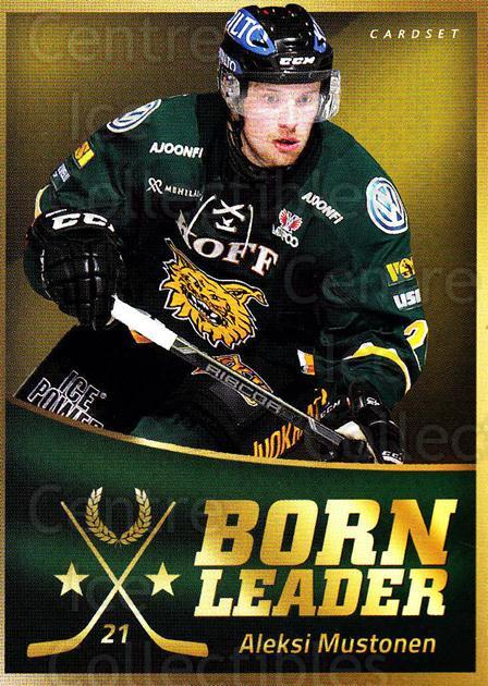 2015-16 Finnish Cardset Born Leader #4 Aleksi Mustonen<br/>1 In Stock - $3.00 each - <a href=https://centericecollectibles.foxycart.com/cart?name=2015-16%20Finnish%20Cardset%20Born%20Leader%20%234%20Aleksi%20Mustonen...&quantity_max=1&price=$3.00&code=660578 class=foxycart> Buy it now! </a>