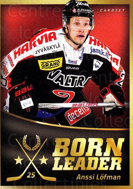 2015-16 Finnish Cardset Born Leader #5 Anssi Lofman<br/>1 In Stock - $3.00 each - <a href=https://centericecollectibles.foxycart.com/cart?name=2015-16%20Finnish%20Cardset%20Born%20Leader%20%235%20Anssi%20Lofman...&quantity_max=1&price=$3.00&code=660579 class=foxycart> Buy it now! </a>