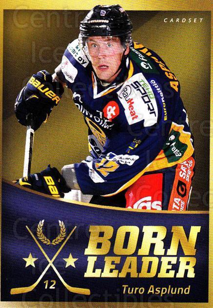 2015-16 Finnish Cardset Born Leader #9 Turo Asplund<br/>1 In Stock - $3.00 each - <a href=https://centericecollectibles.foxycart.com/cart?name=2015-16%20Finnish%20Cardset%20Born%20Leader%20%239%20Turo%20Asplund...&quantity_max=1&price=$3.00&code=660583 class=foxycart> Buy it now! </a>