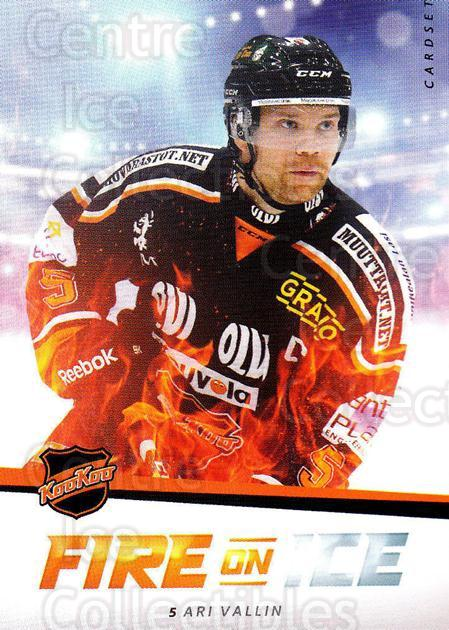 2015-16 Finnish Cardset Fire on Ice #7 Ari Vallin<br/>1 In Stock - $3.00 each - <a href=https://centericecollectibles.foxycart.com/cart?name=2015-16%20Finnish%20Cardset%20Fire%20on%20Ice%20%237%20Ari%20Vallin...&quantity_max=1&price=$3.00&code=660610 class=foxycart> Buy it now! </a>