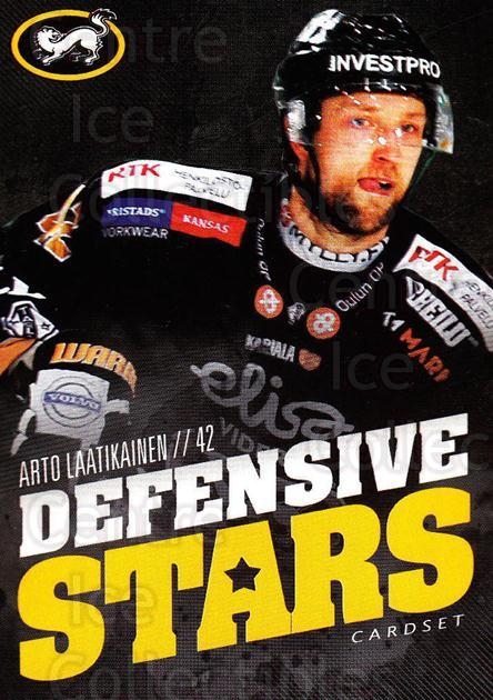 2015-16 Finnish Cardset Defensive Stars #7 Arto Laatikainen<br/>1 In Stock - $3.00 each - <a href=https://centericecollectibles.foxycart.com/cart?name=2015-16%20Finnish%20Cardset%20Defensive%20Stars%20%237%20Arto%20Laatikaine...&quantity_max=1&price=$3.00&code=660634 class=foxycart> Buy it now! </a>