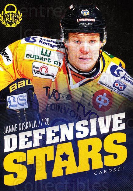 2015-16 Finnish Cardset Defensive Stars #8 Janne Niskala<br/>1 In Stock - $3.00 each - <a href=https://centericecollectibles.foxycart.com/cart?name=2015-16%20Finnish%20Cardset%20Defensive%20Stars%20%238%20Janne%20Niskala...&quantity_max=1&price=$3.00&code=660635 class=foxycart> Buy it now! </a>