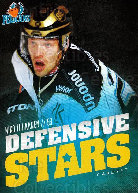 2015-16 Finnish Cardset Defensive Stars #9 Niko Tuhkanen<br/>1 In Stock - $3.00 each - <a href=https://centericecollectibles.foxycart.com/cart?name=2015-16%20Finnish%20Cardset%20Defensive%20Stars%20%239%20Niko%20Tuhkanen...&quantity_max=1&price=$3.00&code=660636 class=foxycart> Buy it now! </a>