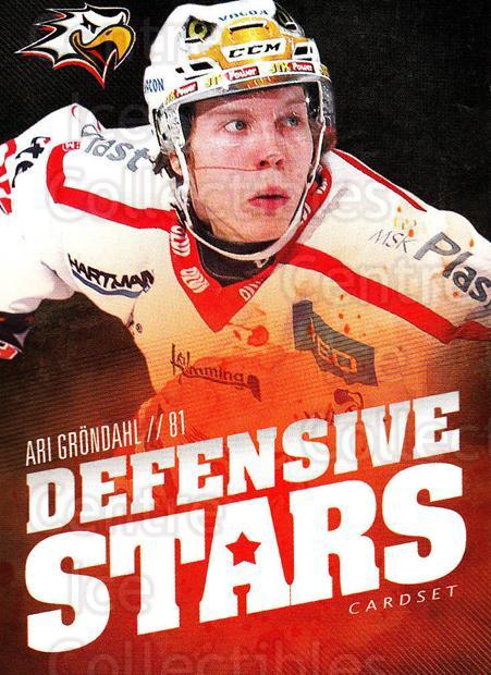 2015-16 Finnish Cardset Defensive Stars #11 Ari Grondahl<br/>1 In Stock - $3.00 each - <a href=https://centericecollectibles.foxycart.com/cart?name=2015-16%20Finnish%20Cardset%20Defensive%20Stars%20%2311%20Ari%20Grondahl...&quantity_max=1&price=$3.00&code=660638 class=foxycart> Buy it now! </a>