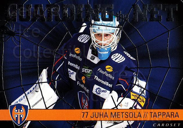 2015-16 Finnish Cardset Guarding the Net #9 Juha Metsola<br/>2 In Stock - $3.00 each - <a href=https://centericecollectibles.foxycart.com/cart?name=2015-16%20Finnish%20Cardset%20Guarding%20the%20Net%20%239%20Juha%20Metsola...&quantity_max=2&price=$3.00&code=660650 class=foxycart> Buy it now! </a>