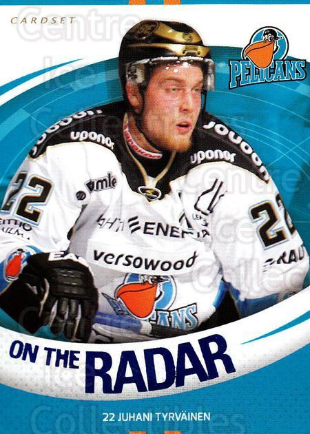 2015-16 Finnish Cardset On the Radar #9 Juhani Tyrvainen<br/>1 In Stock - $3.00 each - <a href=https://centericecollectibles.foxycart.com/cart?name=2015-16%20Finnish%20Cardset%20On%20the%20Radar%20%239%20Juhani%20Tyrvaine...&quantity_max=1&price=$3.00&code=660659 class=foxycart> Buy it now! </a>