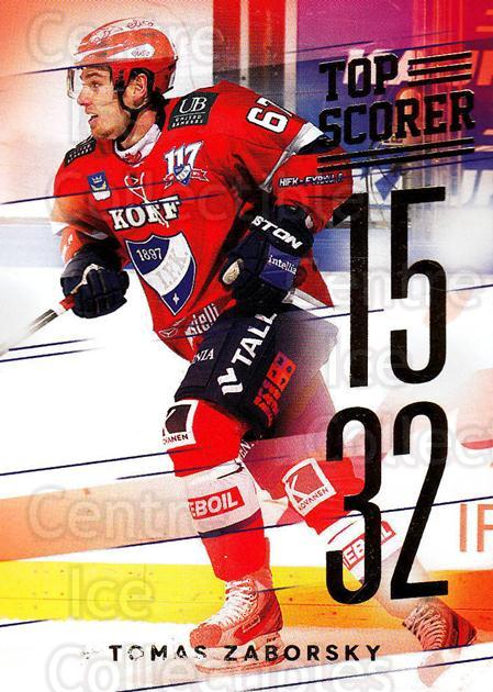2015-16 Finnish Cardset Top Scorer #2 Tomas Zaborsky<br/>1 In Stock - $3.00 each - <a href=https://centericecollectibles.foxycart.com/cart?name=2015-16%20Finnish%20Cardset%20Top%20Scorer%20%232%20Tomas%20Zaborsky...&quantity_max=1&price=$3.00&code=660680 class=foxycart> Buy it now! </a>