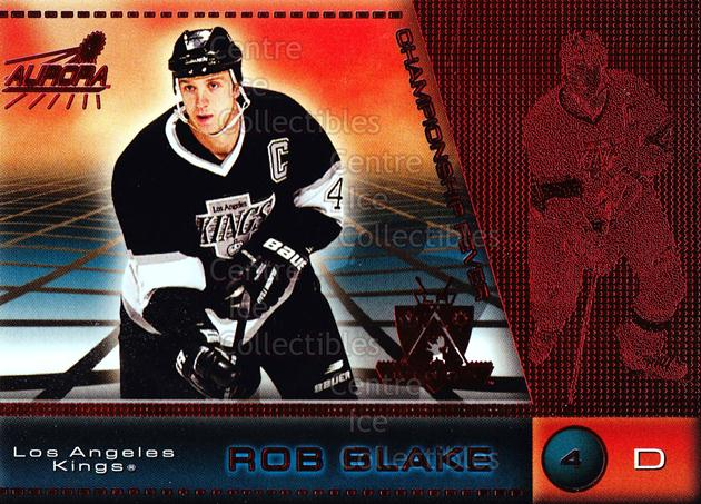 1998-99 Aurora Championship Fever Red #23 Rob Blake<br/>5 In Stock - $3.00 each - <a href=https://centericecollectibles.foxycart.com/cart?name=1998-99%20Aurora%20Championship%20Fever%20Red%20%2323%20Rob%20Blake...&quantity_max=5&price=$3.00&code=66073 class=foxycart> Buy it now! </a>