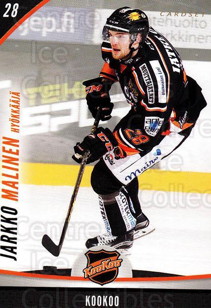 2015-16 Finnish Cardset #285 Jarkko Malinen<br/>4 In Stock - $2.00 each - <a href=https://centericecollectibles.foxycart.com/cart?name=2015-16%20Finnish%20Cardset%20%23285%20Jarkko%20Malinen...&quantity_max=4&price=$2.00&code=660797 class=foxycart> Buy it now! </a>