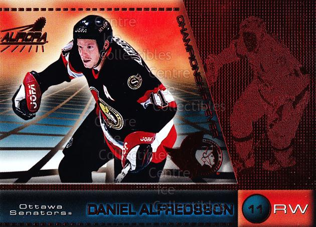 1998-99 Aurora Championship Fever Red #32 Daniel Alfredsson<br/>5 In Stock - $3.00 each - <a href=https://centericecollectibles.foxycart.com/cart?name=1998-99%20Aurora%20Championship%20Fever%20Red%20%2332%20Daniel%20Alfredss...&quantity_max=5&price=$3.00&code=66080 class=foxycart> Buy it now! </a>