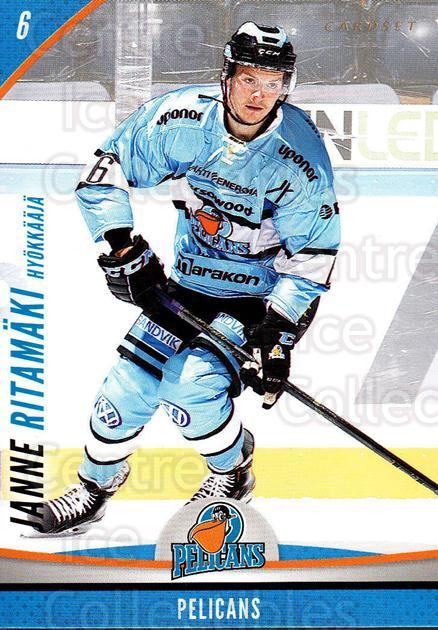 2015-16 Finnish Cardset #302 Janne Ritamaki<br/>4 In Stock - $2.00 each - <a href=https://centericecollectibles.foxycart.com/cart?name=2015-16%20Finnish%20Cardset%20%23302%20Janne%20Ritamaki...&quantity_max=4&price=$2.00&code=660814 class=foxycart> Buy it now! </a>