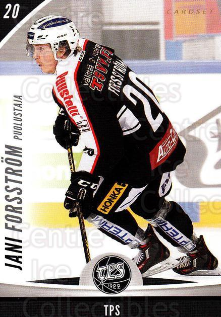 2015-16 Finnish Cardset #350 Jani Forsstrom<br/>2 In Stock - $2.00 each - <a href=https://centericecollectibles.foxycart.com/cart?name=2015-16%20Finnish%20Cardset%20%23350%20Jani%20Forsstrom...&quantity_max=2&price=$2.00&code=660862 class=foxycart> Buy it now! </a>