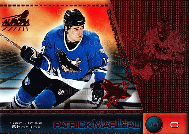 1998-99 Aurora Championship Fever Red #43 Patrick Marleau<br/>5 In Stock - $3.00 each - <a href=https://centericecollectibles.foxycart.com/cart?name=1998-99%20Aurora%20Championship%20Fever%20Red%20%2343%20Patrick%20Marleau...&quantity_max=5&price=$3.00&code=66091 class=foxycart> Buy it now! </a>