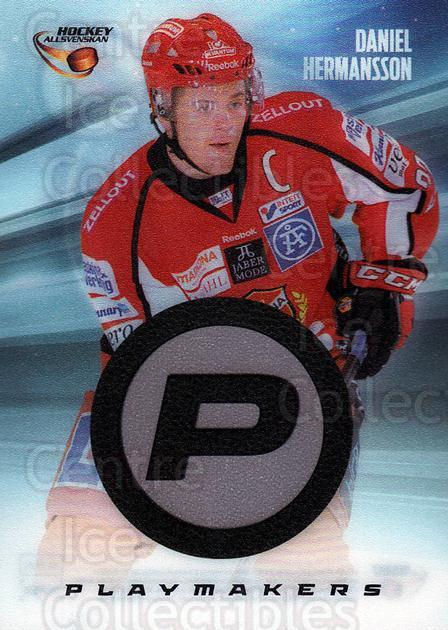 2013-14 Swedish Hockey Allsvenskan Playmakers #1 Daniel Hermansson<br/>2 In Stock - $3.00 each - <a href=https://centericecollectibles.foxycart.com/cart?name=2013-14%20Swedish%20Hockey%20Allsvenskan%20Playmakers%20%231%20Daniel%20Hermanss...&quantity_max=2&price=$3.00&code=660973 class=foxycart> Buy it now! </a>