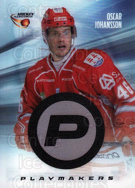 2013-14 Swedish Hockey Allsvenskan Playmakers #10 Oscar Johansson<br/>2 In Stock - $3.00 each - <a href=https://centericecollectibles.foxycart.com/cart?name=2013-14%20Swedish%20Hockey%20Allsvenskan%20Playmakers%20%2310%20Oscar%20Johansson...&quantity_max=2&price=$3.00&code=660982 class=foxycart> Buy it now! </a>