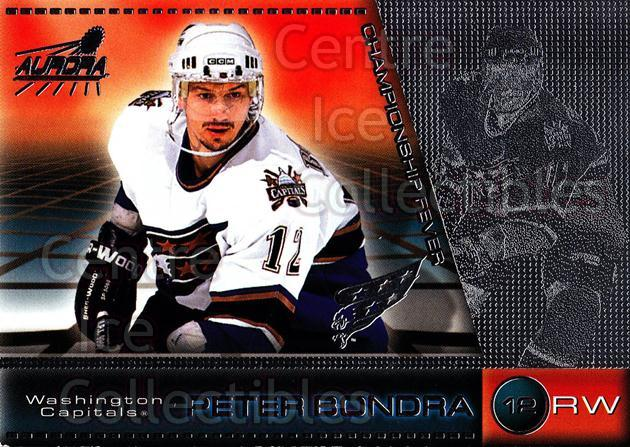 1998-99 Aurora Championship Fever Silver #49 Peter Bondra<br/>1 In Stock - $5.00 each - <a href=https://centericecollectibles.foxycart.com/cart?name=1998-99%20Aurora%20Championship%20Fever%20Silver%20%2349%20Peter%20Bondra...&quantity_max=1&price=$5.00&code=66123 class=foxycart> Buy it now! </a>