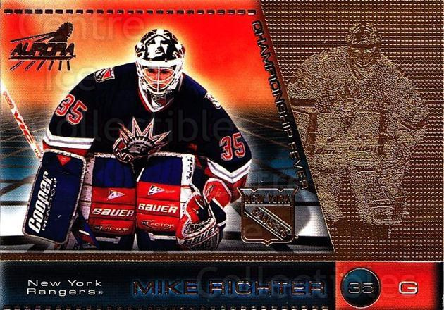 1998-99 Aurora Championship Fever #31 Mike Richter<br/>5 In Stock - $1.00 each - <a href=https://centericecollectibles.foxycart.com/cart?name=1998-99%20Aurora%20Championship%20Fever%20%2331%20Mike%20Richter...&quantity_max=5&price=$1.00&code=66140 class=foxycart> Buy it now! </a>