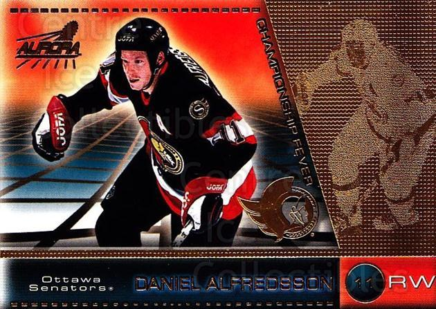 1998-99 Aurora Championship Fever #32 Daniel Alfredsson<br/>6 In Stock - $1.00 each - <a href=https://centericecollectibles.foxycart.com/cart?name=1998-99%20Aurora%20Championship%20Fever%20%2332%20Daniel%20Alfredss...&quantity_max=6&price=$1.00&code=66141 class=foxycart> Buy it now! </a>