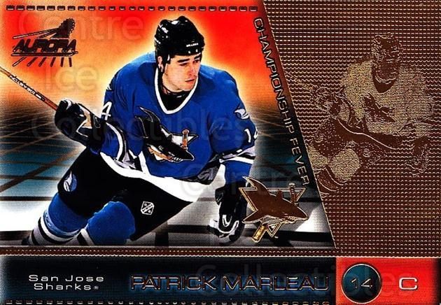 1998-99 Aurora Championship Fever #43 Patrick Marleau<br/>6 In Stock - $1.00 each - <a href=https://centericecollectibles.foxycart.com/cart?name=1998-99%20Aurora%20Championship%20Fever%20%2343%20Patrick%20Marleau...&quantity_max=6&price=$1.00&code=66152 class=foxycart> Buy it now! </a>