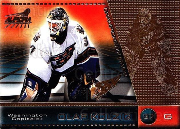 1998-99 Aurora Championship Fever #50 Olaf Kolzig<br/>6 In Stock - $1.00 each - <a href=https://centericecollectibles.foxycart.com/cart?name=1998-99%20Aurora%20Championship%20Fever%20%2350%20Olaf%20Kolzig...&quantity_max=6&price=$1.00&code=66158 class=foxycart> Buy it now! </a>
