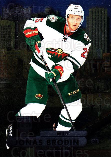 2013-14 Fleer Showcase Metal Universe #6 Jonas Brodin<br/>1 In Stock - $2.00 each - <a href=https://centericecollectibles.foxycart.com/cart?name=2013-14%20Fleer%20Showcase%20Metal%20Universe%20%236%20Jonas%20Brodin...&quantity_max=1&price=$2.00&code=661960 class=foxycart> Buy it now! </a>