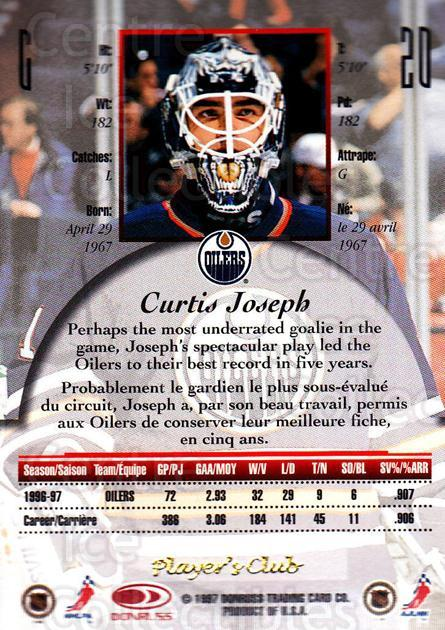 1997-98 Canadian Ice Provincial Player's Club #20 Curtis Joseph<br/>1 In Stock - $10.00 each - <a href=https://centericecollectibles.foxycart.com/cart?name=1997-98%20Canadian%20Ice%20Provincial%20Player's%20Club%20%2320%20Curtis%20Joseph...&quantity_max=1&price=$10.00&code=662102 class=foxycart> Buy it now! </a>